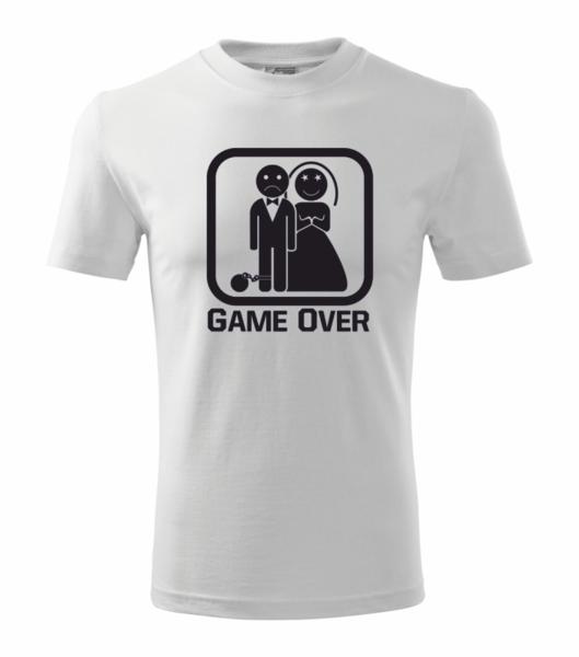 Tričko GAME OVER bílá 4XL