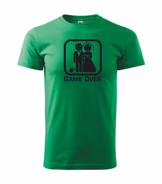 Tričko GAME OVER M středně zelená