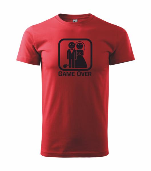 Tričko GAME OVER XS červená