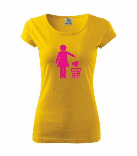 Tričko dámské SINGLE S žlutá