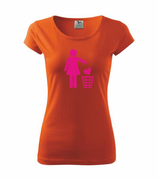 Tričko dámské SINGLE S oranžová