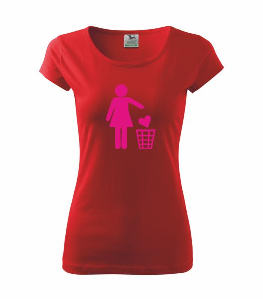 Tričko dámské SINGLE S červená