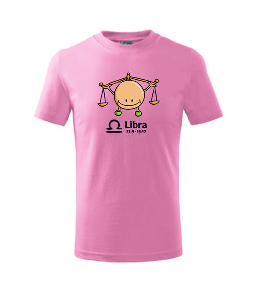 dětské tričko Váhy růžová 122