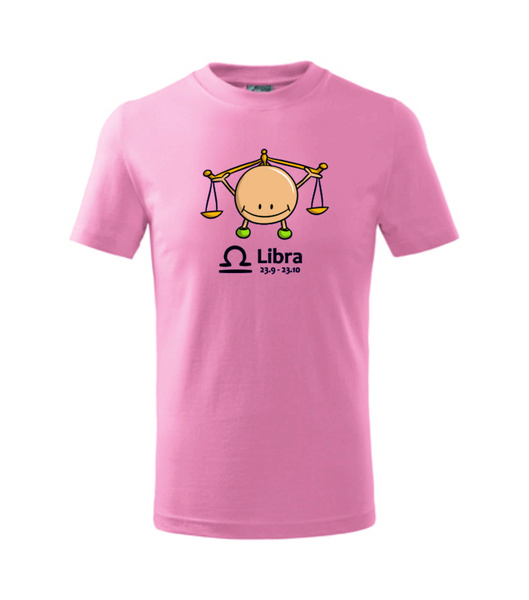 dětské tričko Váhy růžová 134