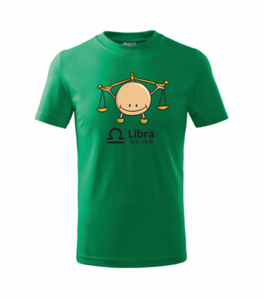 dětské tričko Váhy středně zelená 146