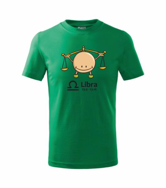 dětské tričko Váhy středně zelená 134