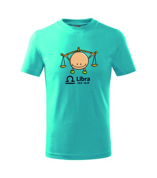 dětské tričko Váhy tyrkysová 134