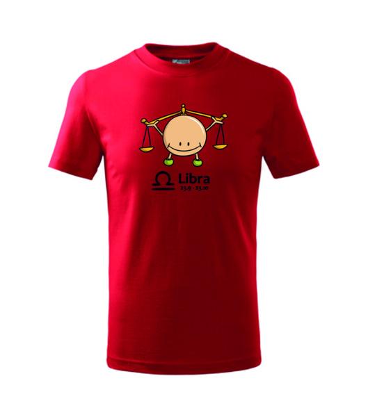 dětské tričko Váhy červená 122