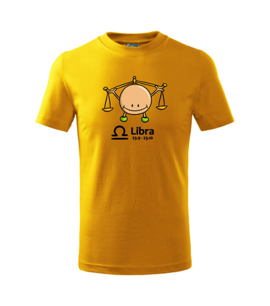 dětské tričko Váhy žlutá 146