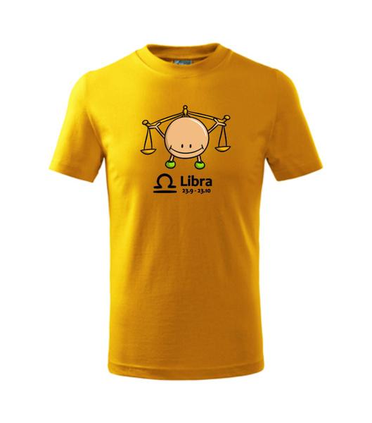 dětské tričko Váhy žlutá 134