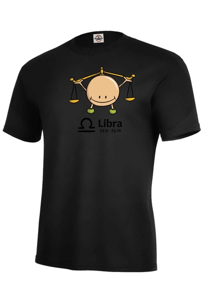 dětské tričko Váhy černá 134