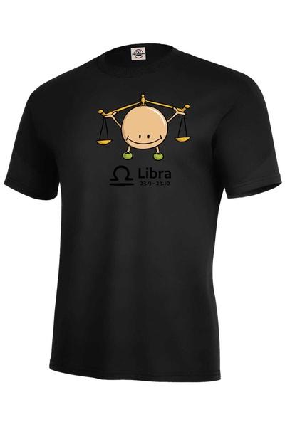 dětské tričko Váhy černá 122