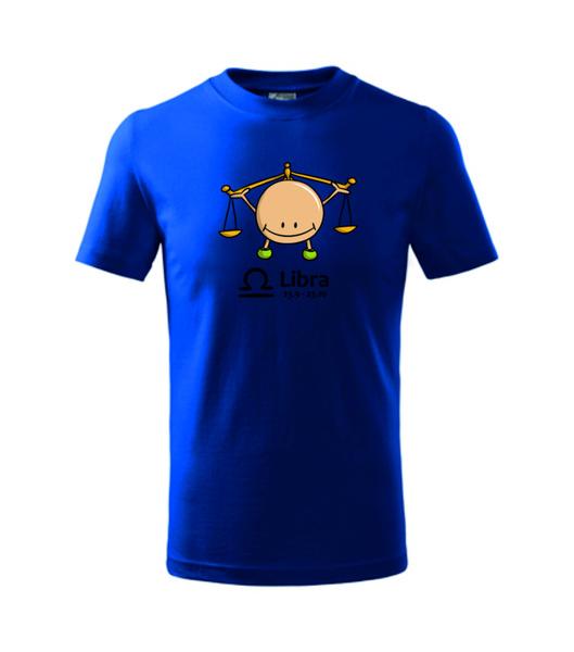 dětské tričko Váhy královská modrá 134