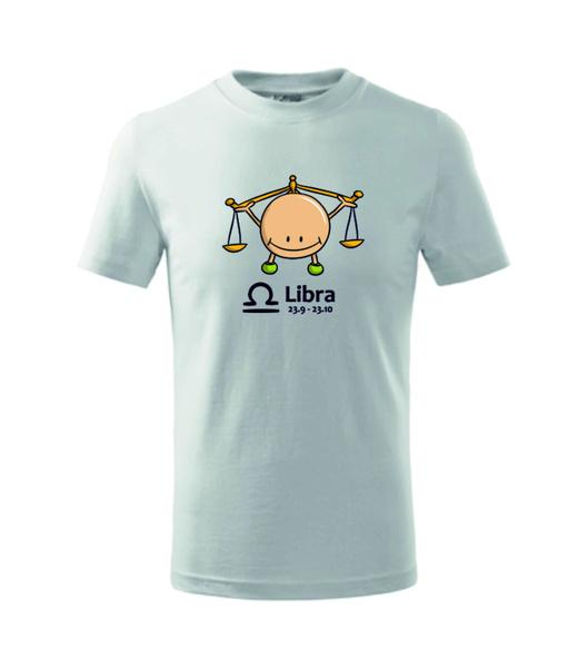 dětské tričko Váhy bílá 134