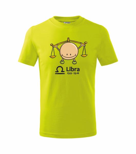 dětské tričko Váhy limetková 134