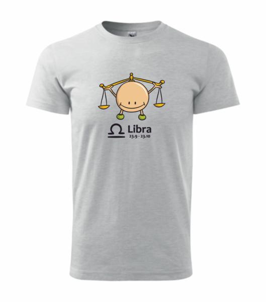 dětské tričko Váhy světle šedý melír 146