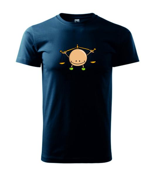 dětské tričko Váhy námořní modrá 134