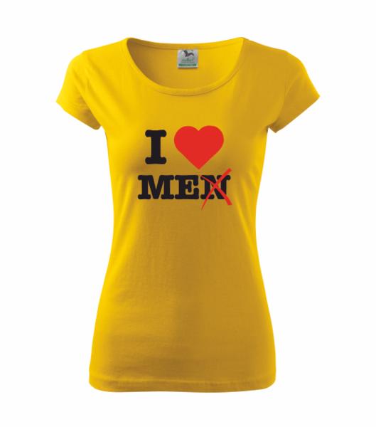 Tričko I love me M žlutá