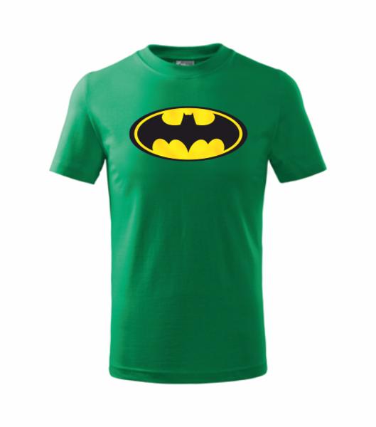 dětské tričko Batman 134 středně zelená
