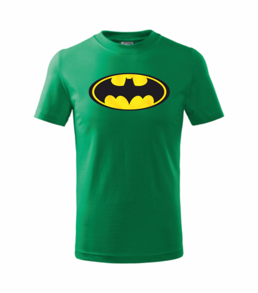dětské tričko Batman středně zelená 110