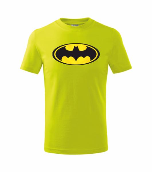 dětské tričko Batman limetková 134