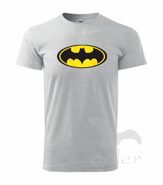 dětské tričko Batman 122 světle šedý melír