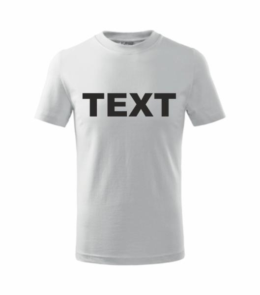 Tričko s vlastním POTISKEM XS bílá