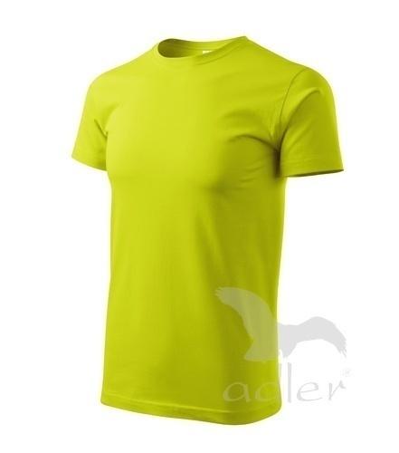 Tričko s vlastním POTISKEM XXL limetková