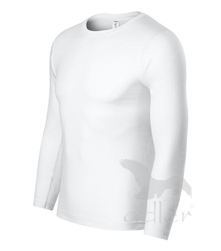 Tričko unisex PROGRESS LS bílá S