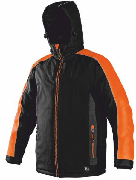 Pánská zimní bunda BRIGHTON XXXL reflexní oranžová