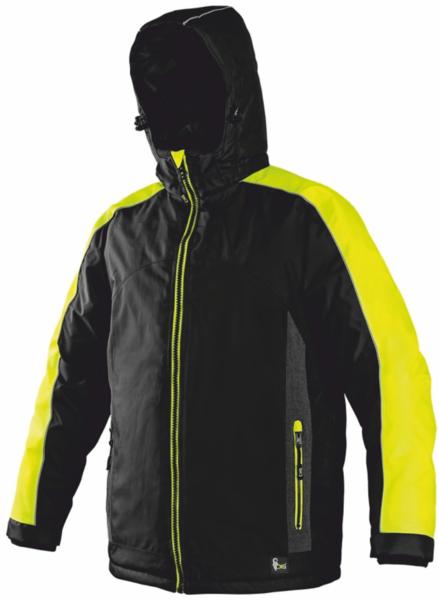 Pánská zimní bunda BRIGHTON reflexní žlutá L