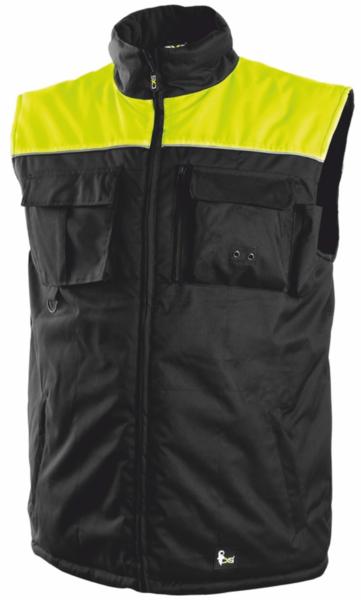 Pánská zimní vesta SEATLE XXXL reflexní žlutá