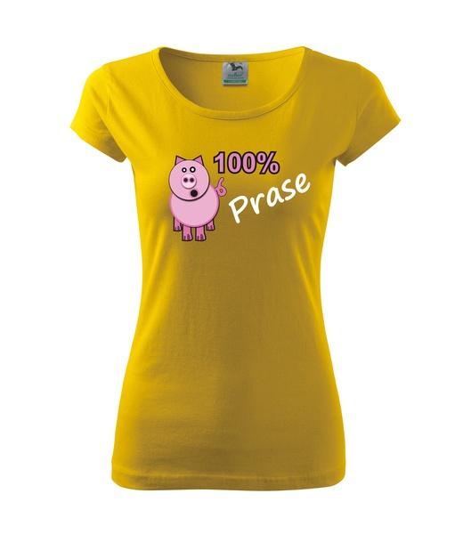 Tričko dámské Prase S žlutá
