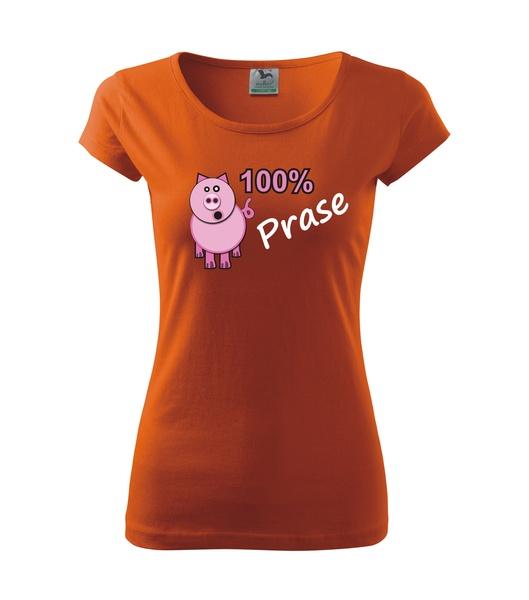 Tričko dámské Prase M oranžová