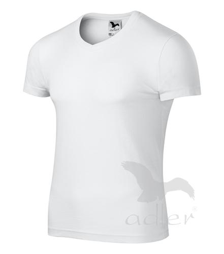 Tričko pánské SLIM FIT V-NECK XXL bílá