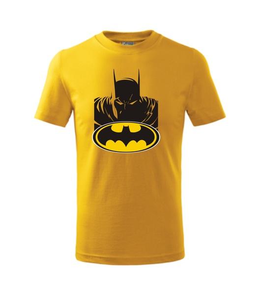 dětské tričko s Batmanem žlutá 134
