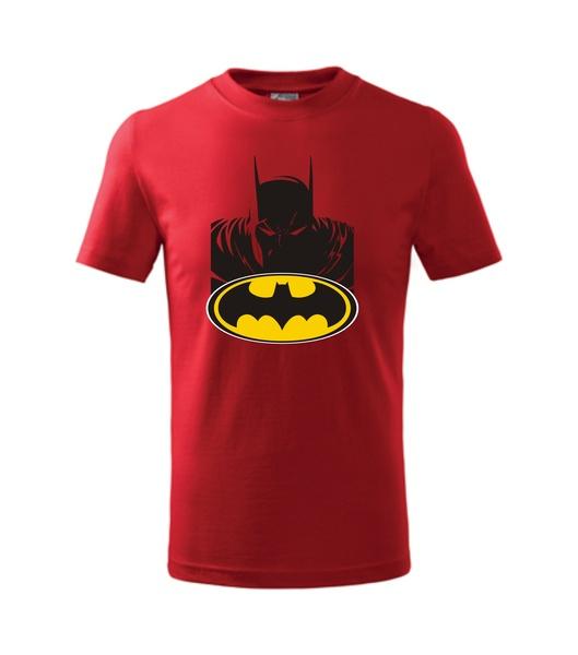 dětské tričko s Batmanem červená 134