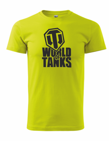 dětské tričko World of tanks limetková 146