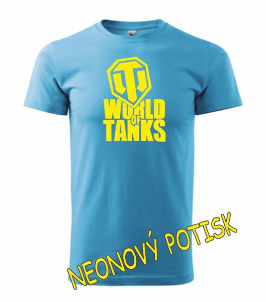 dětské tričko World of tanks tyrkysová 122