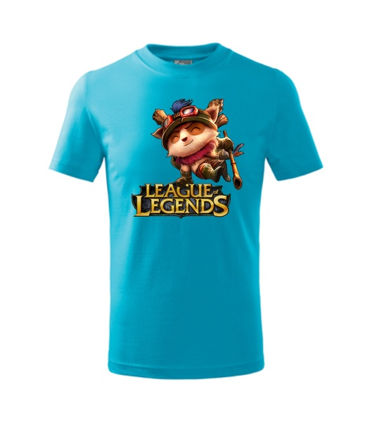 Tričko League of legends 2 XXL tyrkysová