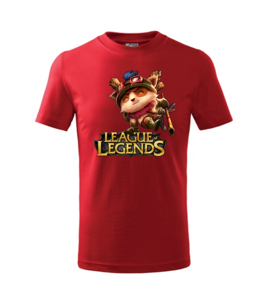 Tričko League of legends 2 červená S