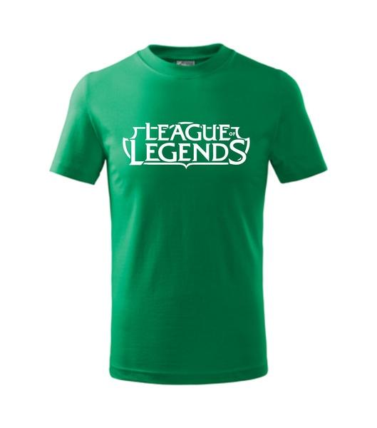 Tričko League of legends středně zelená S