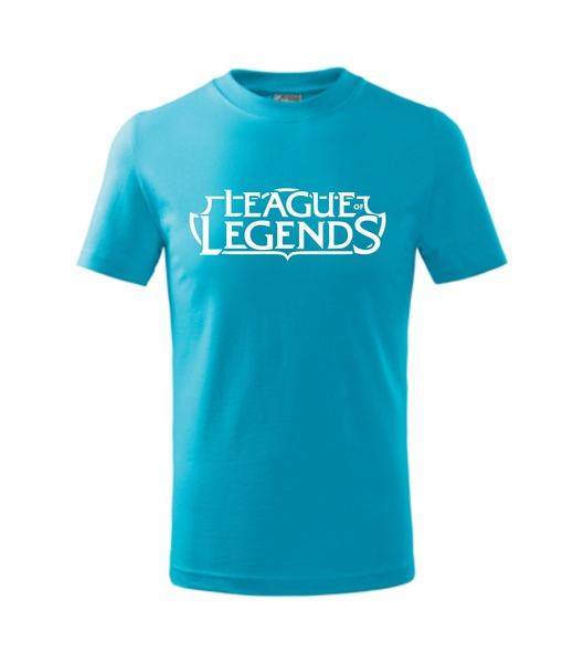 Tričko League of legends tyrkysová XXXL