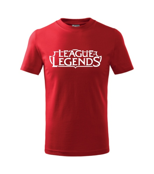 Tričko League of legends XXXL červená