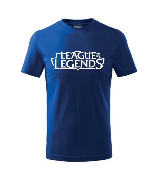 Tričko League of legends XL královská modrá