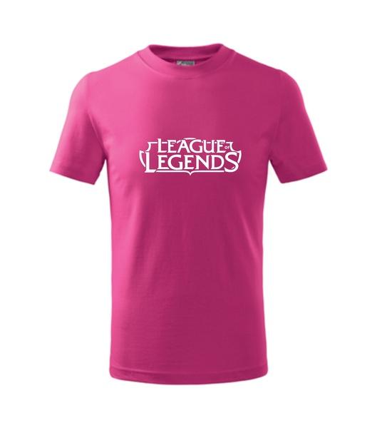 Dětské Tričko League of legends malinová 122