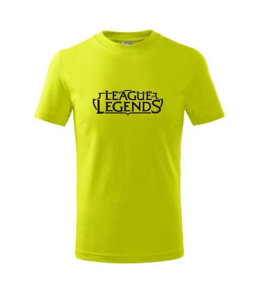 Dětské Tričko League of legends limetková 134