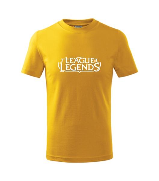 Dětské Tričko League of legends žlutá 110
