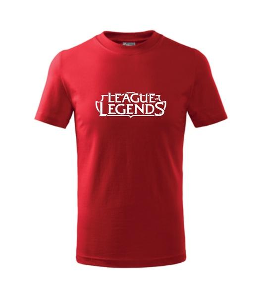 Dětské Tričko League of legends červená 110