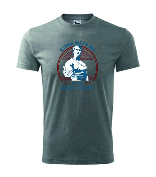 Tričko s Arnoldem XXXL tmavě šedý melír